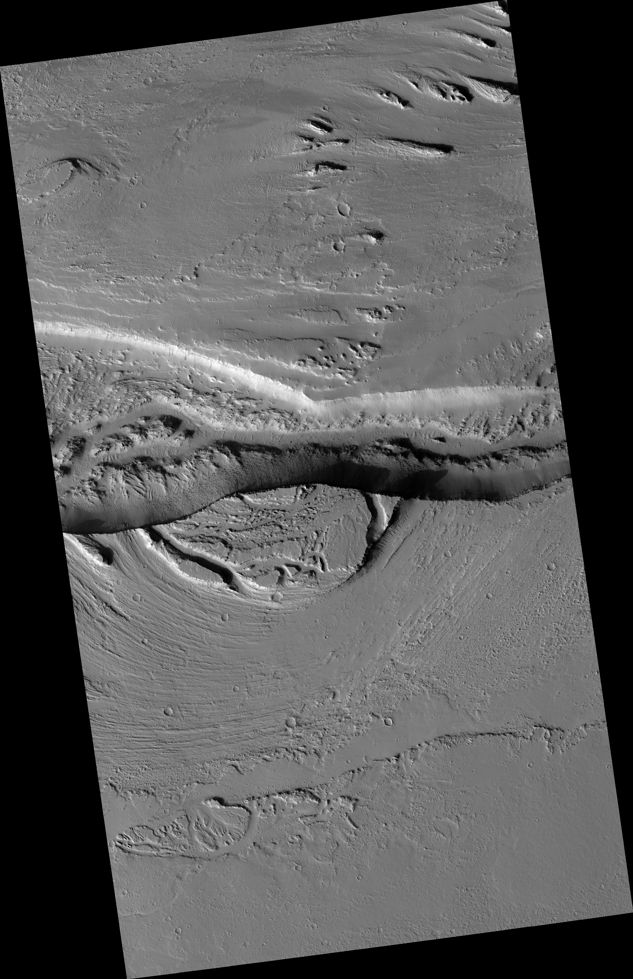 Hirise flood carved rock esp