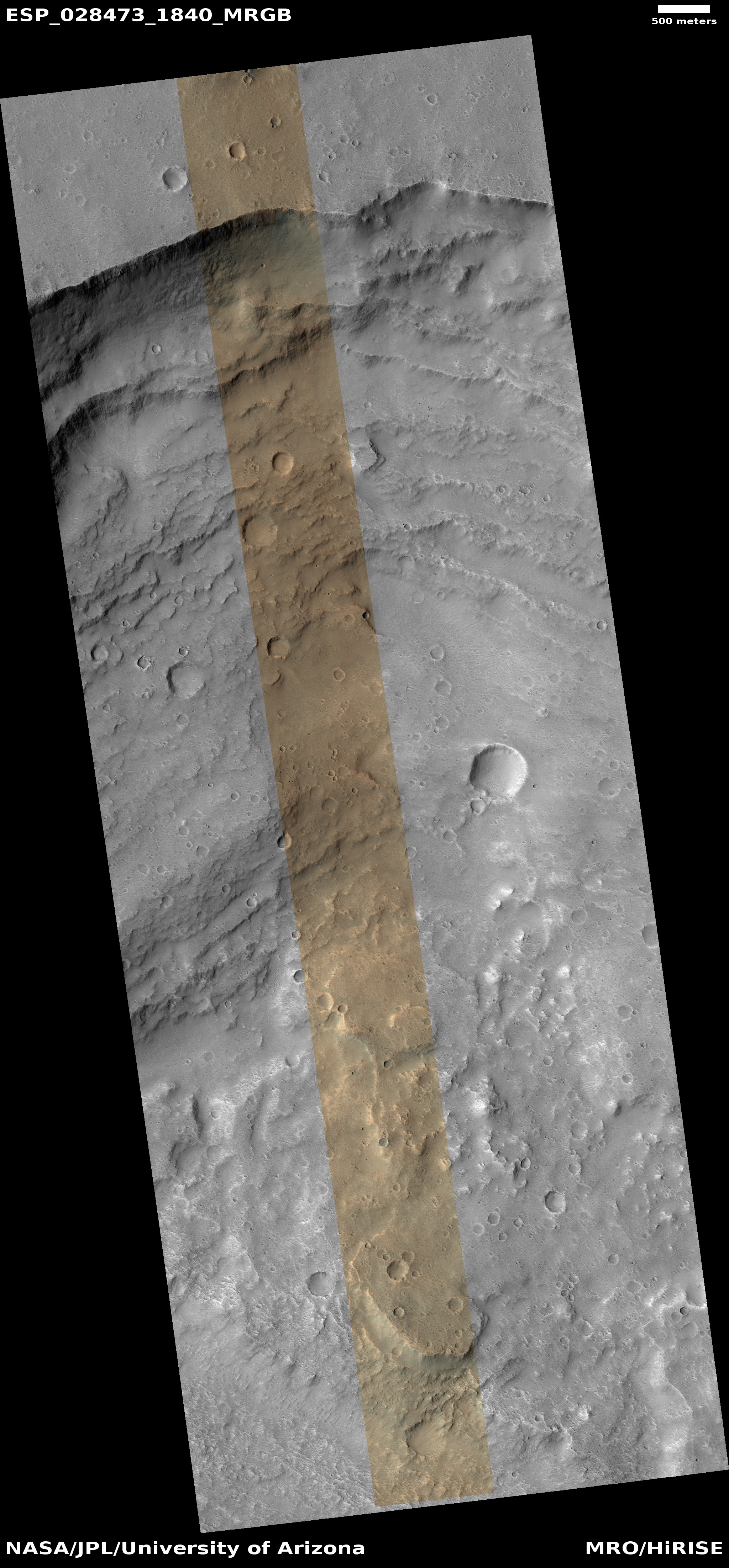 Hirise topography of a flood carved channel esp