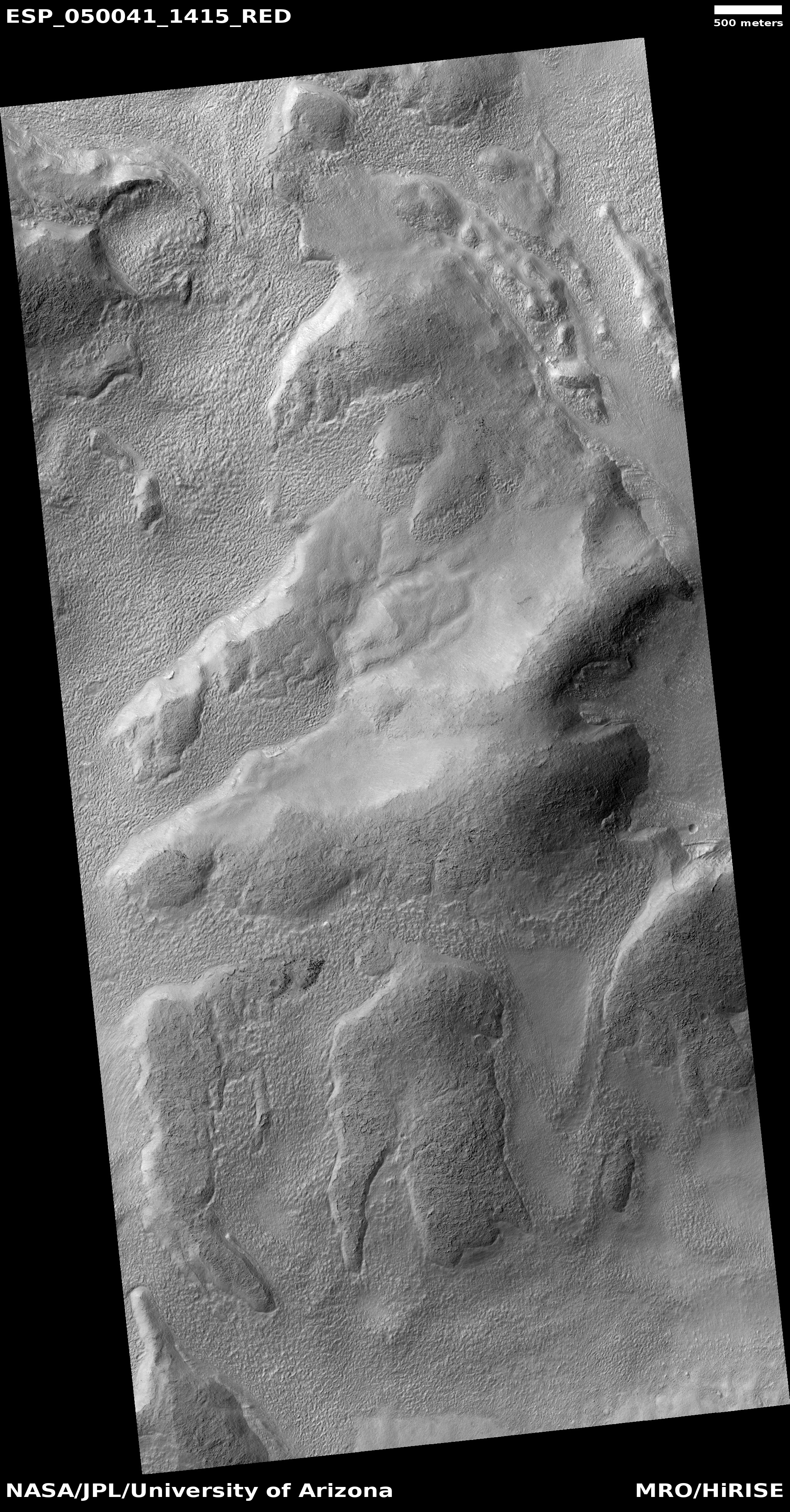 Hirise gullies and flow features along crater wall in for Flow wall 48 bonus set