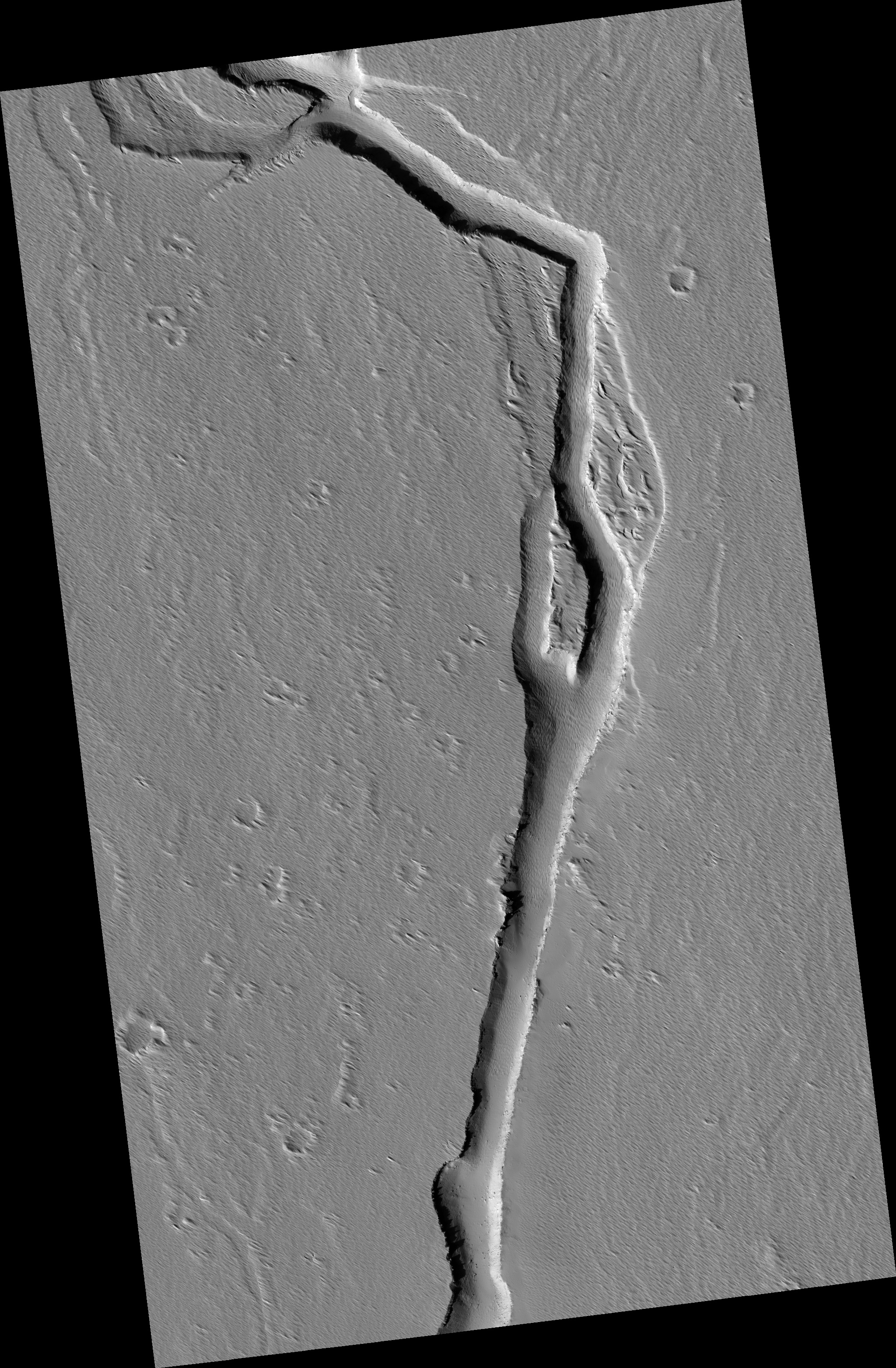 Channel on the Southern Flanks of Ascraeus Mons