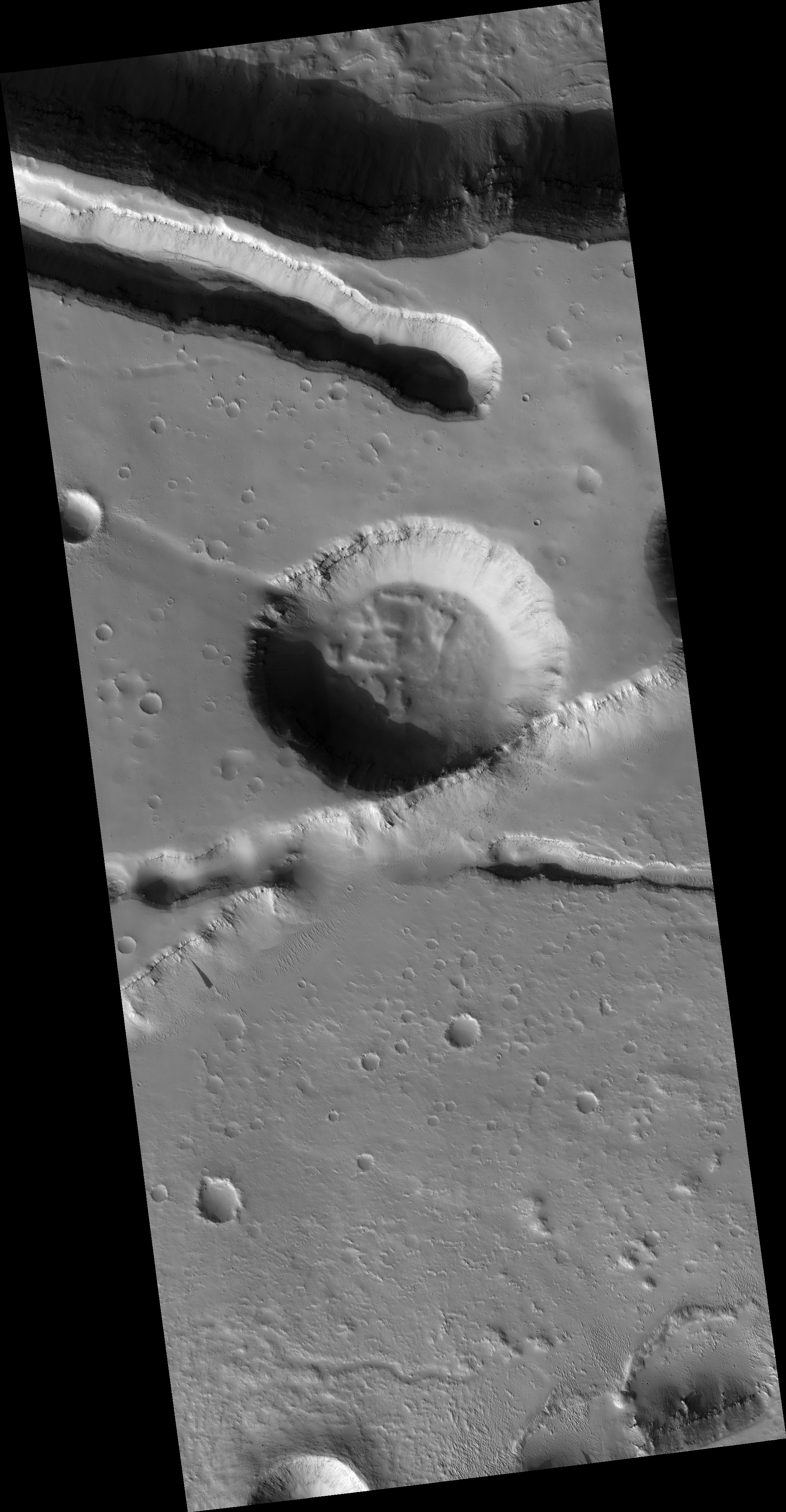 Craters and Valleys in the Elysium Fossae